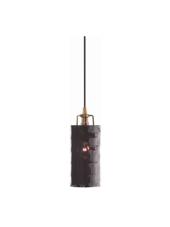 Arteriors Ice Faceted Small Midnight Glass/Iron Pendant - This pendant has the faceted look of a cut precious stone, perhaps a very deep ruby or garnet. It's a more modern take on jewel-like lighting.