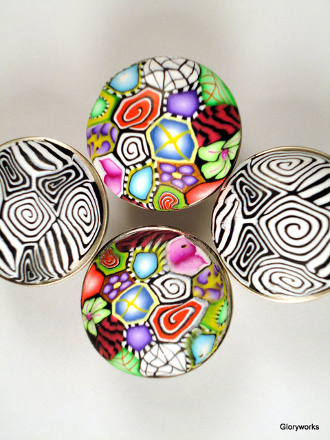 Cabinet Knobs/Cabinet Pulls Set of 4 by Glory Works - Eclectic - Cabinet And Drawer Knobs - by Etsy