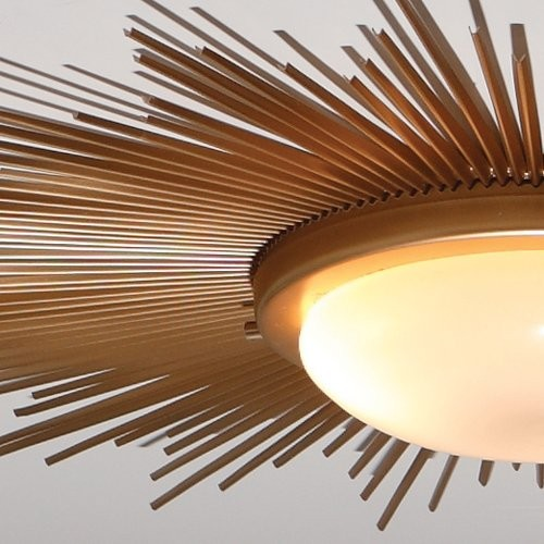 Global Views Sunburst Gold Modern Contemporary Flush Mount Ceilin