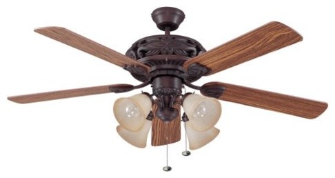 Ellington E-GD52ABZ5C Grandeur 52 in. Indoor Ceiling Fan - Aged Bronze traditional ceiling fans