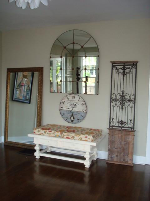 Bungalow Fest Designer Show Home eclectic-floor-mirrors