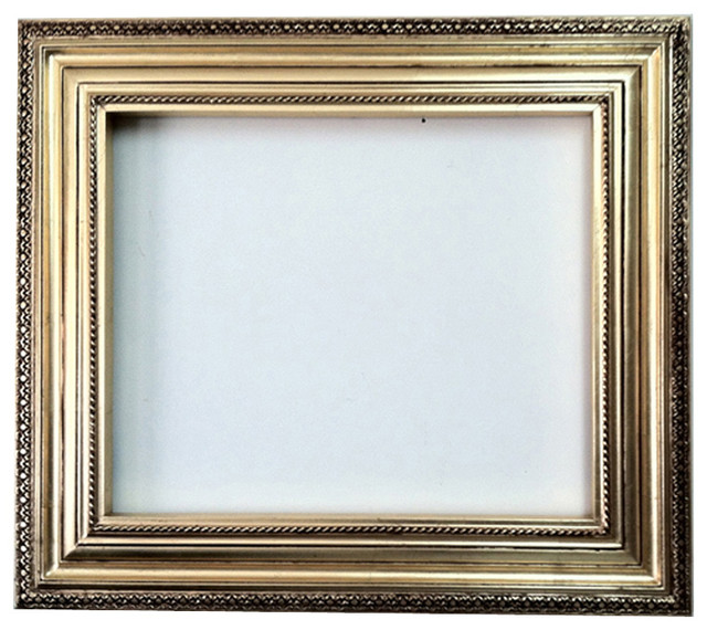 Decorative Wall Mirror Frame In Bright Gold Leaf Bronze