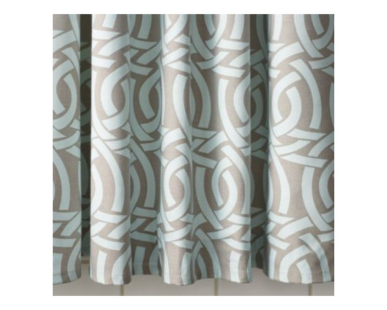 Serena & Lily - Highland Knot Shower Curtain  Aqua - Lifted from Serena 's sketchbook, this intricate pattern is her poetic take on a Celtic knot, in a fresh combo of aqua and bark.
