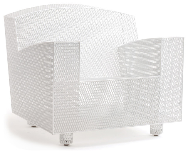 Half 13 | Philly Club Chair White contemporary-outdoor-lounge-chairs