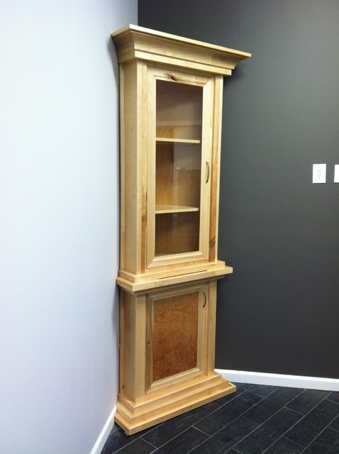 Corner Wine Cabinet - Traditional - Storage And Organization - other metro - by Geepil Construction
