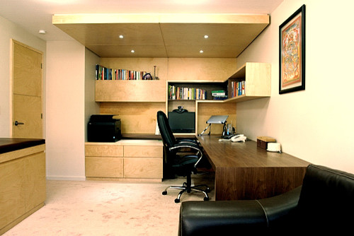 Wonderful Contemporary Office Design Photos #1: Contemporary-home-office.jpg