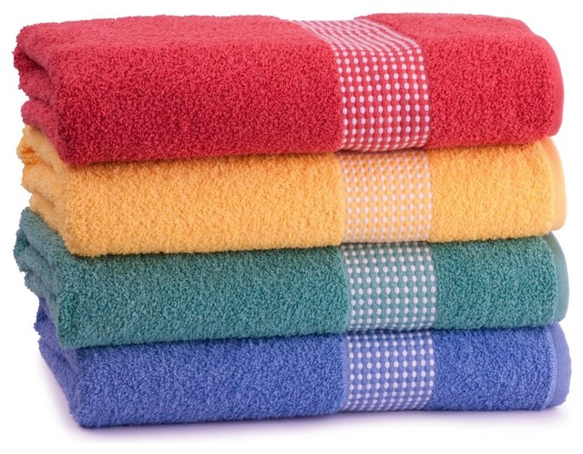 Cambridge Gingham 100 Cotton Bath Towel Traditional