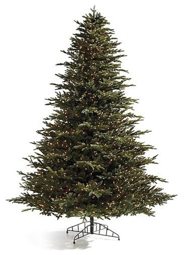 Pre-lit Deluxe Fraser Artificial Christmas Tree. with Traditional Stand traditional-holiday-decorations