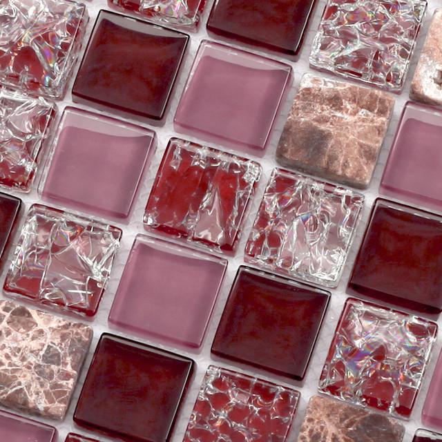 Crackle Glass Mosaic Tiles CKMT005 modern-mosaic-tile