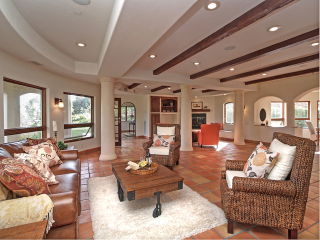 Westlake Village Home Staging mediterranean-living-room