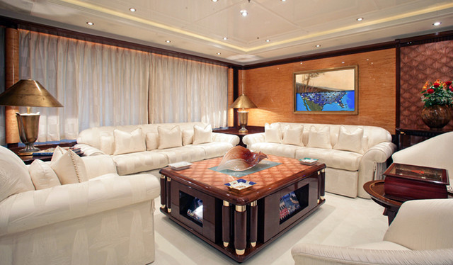 Tv Concealment on MegaYacht traditional-living-room