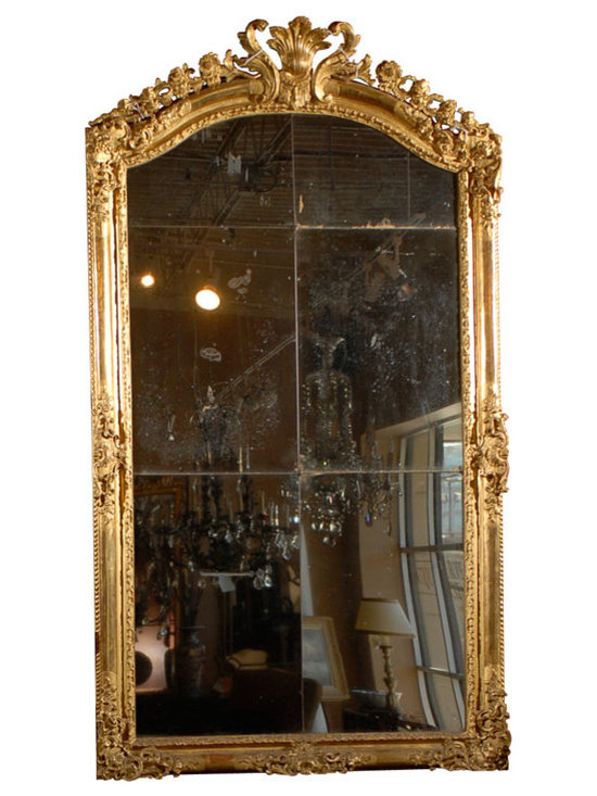 Current Inventory for Purchase - Louis XV Carved Regency Gilt Mirror