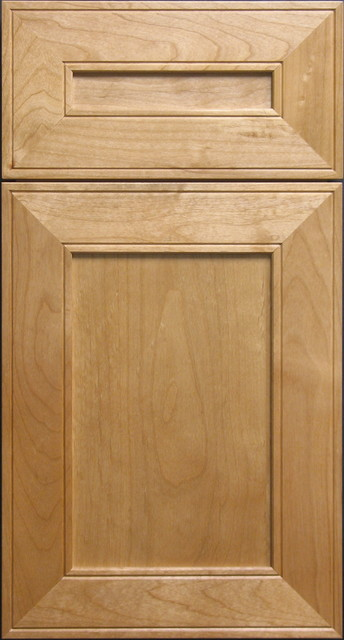 Clear Alder Shaker-style Mitered Cabinet Door - Contemporary - other ...
