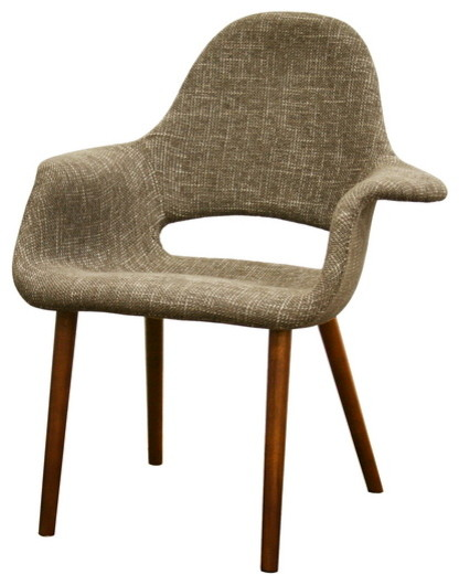 Baxton Studio Forza Taupe Twill Mid-Century Style Accent Chair (Set of 2) midcentury-chairs
