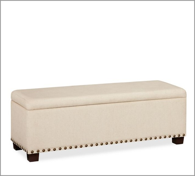Raleigh Upholstered Storage Bench With Nailhead Contemporary Accent And Storage Benches By