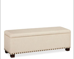 Raleigh Upholstered Storage Bench With Nailhead contemporary-accent-and-storage-benches