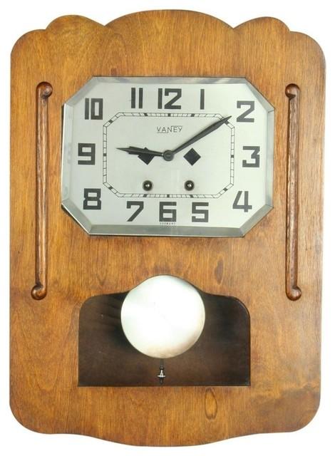 Consigned Vintage Minimalist 1930 German Art Deco traditional-clocks
