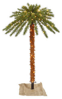 4 ft. Artificial Pre-Lit Christmas Palm Tree tropical-christmas-trees