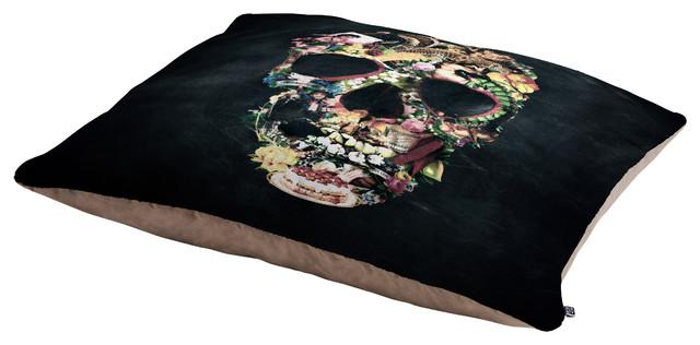 Ali Gulec Vintage Skull Pet Bed contemporary-pet-supplies