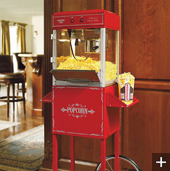 Professional Popcorn Maker eclectic-kitchen-islands-and-kitchen-carts