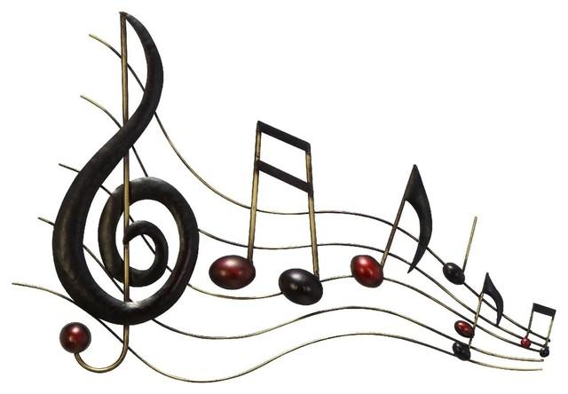 Metal Wall Music Notes Musical Sound Bar contemporary-artwork