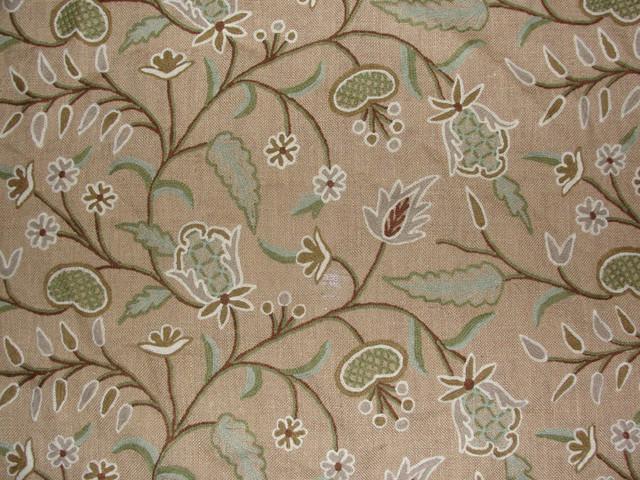 Crewel Fabric Dedar Brown Dyed Jute- Yardage traditional-upholstery-fabric