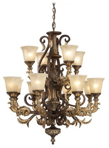 ELK Lighting Regency Chandelier 2164/8+4 - 35W in. traditional-chandeliers