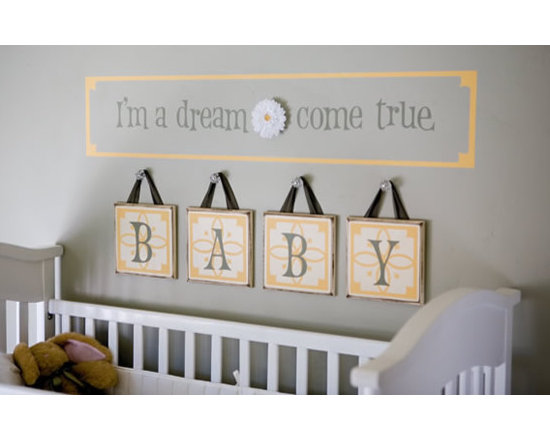Baby Nursery - Duplicate this look using Uppercase Living's vinyl expressions and embellishments!