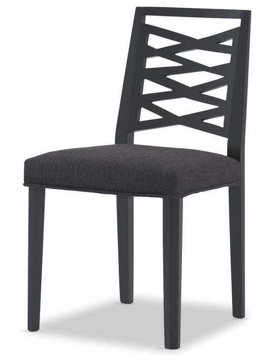 Bryght - Lina Liquorice Fabric Upholstered Ebony Dining Chair - Take a seat on the Lina dining chair. Made of eco-friendly hardwood in a gorgeous ebony stain, the Lina offers simplicity with versatility. Its modern, abstract and asymmetrical patterned back and padded seating is sure to provide comfort with a touch of oomph!