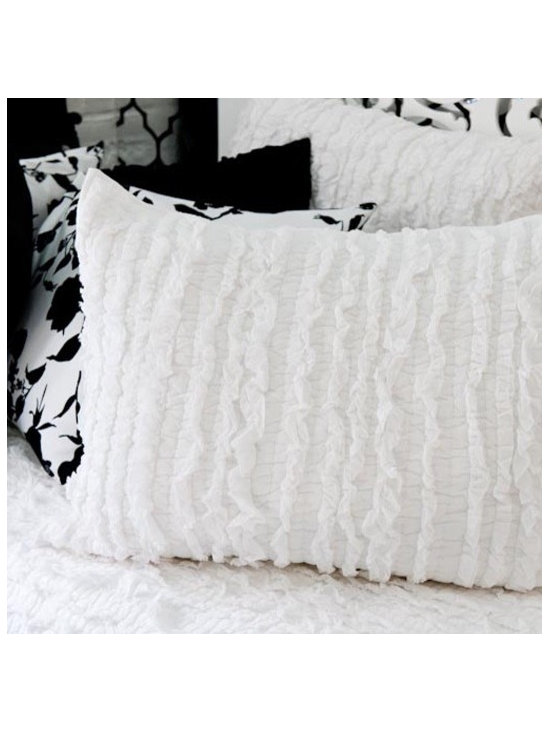ribbon quilted sham -