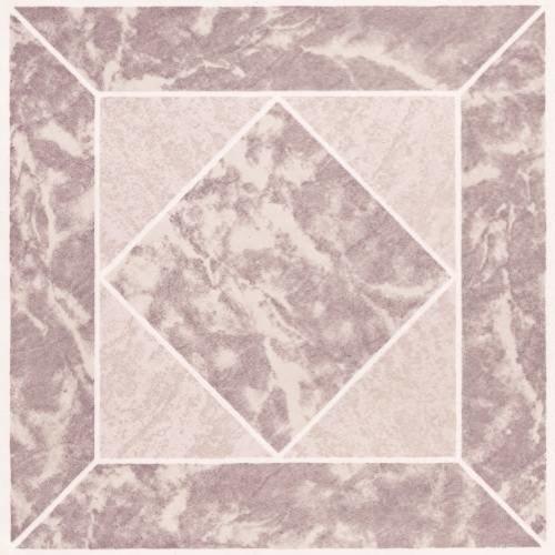 "Floor Tile No Wax Self Stick 12"" x 12"" Rose Marble contemporary-floor-tiles"