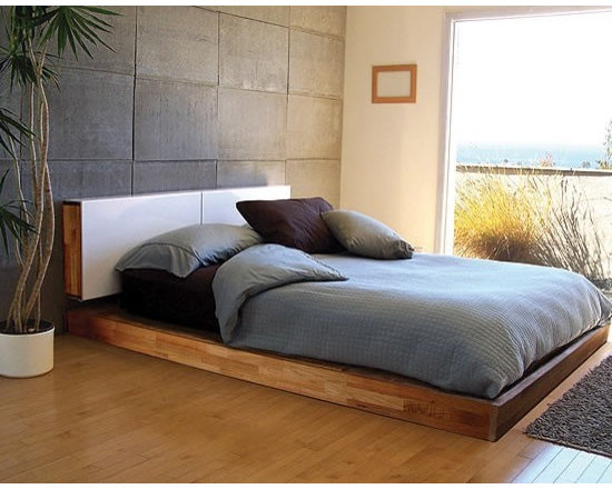 MASHstudios Platform Bed - This no frills Platform Bed is designed low to the ground and with a bare minimum of components. Beautiful yet minimal!