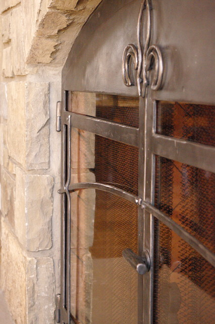 Fireplace Screens Traditional Fireplace Screens Calgary By Stone Wood And Steel