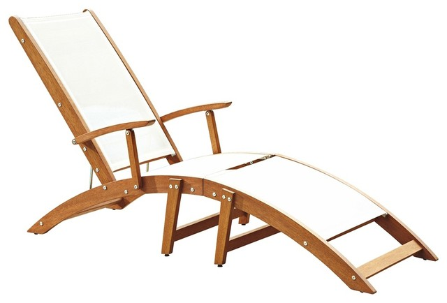 Contemporary Bali Hai Natural Teak Chaise Lounge Chair contemporary outdoor c