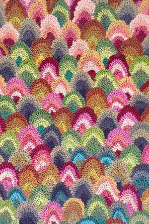 Rainbow Seashells Cotton Hooked Rug eclectic-rugs