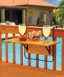 outdoor tray for patio railing