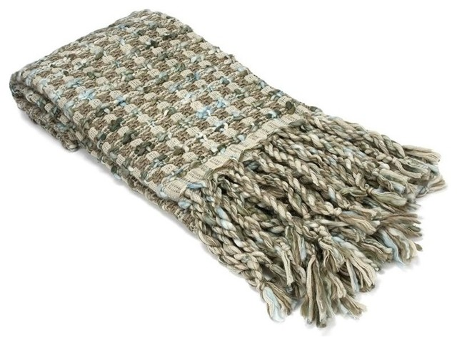 Sage Throw with Braided Fringe transitional-throws