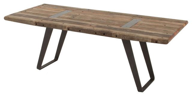 "Industrial Reclaimed Dining Table 85"" eclectic-dining-tables"