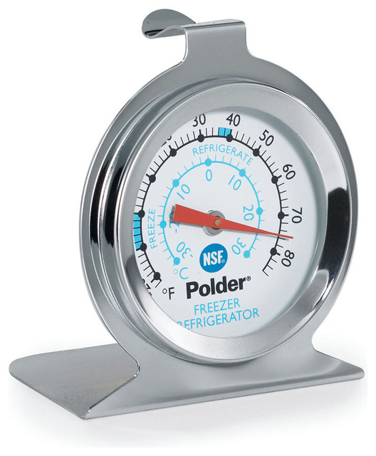 Polder Kitchen Scale: Polder Commercial Refrigerator Freezer Thermometer