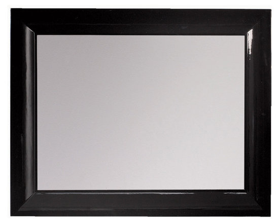"Viena 39"" 1/4 mirror mate. Black gloss -"