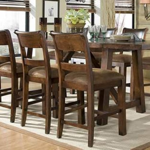 Woodland Ridge Ladder Back Pub Side Chairs - Set of 2 traditional-dining-chairs