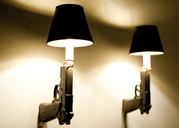 9mm Gun Sconce by Loaded Object Ceramics eclectic-wall-lighting