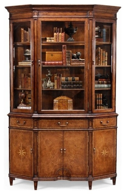 New Jonathan Charles China Cabinet Walnut traditional-storage-cabinets