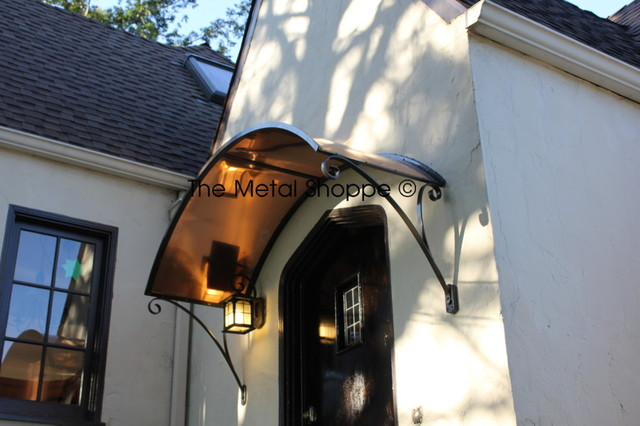 Custom Arched Copper And Iron Window Door Awning