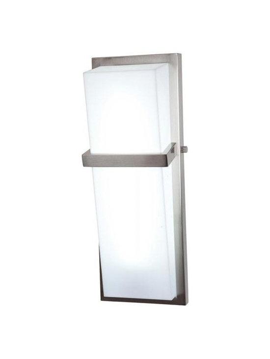 Access Lighting 31025-BS/ACR One Light Steel Bathroom Sconce -