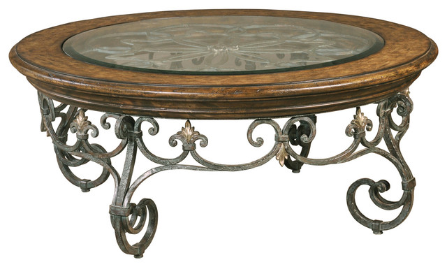 Montego Round Cocktail Table Traditional Coffee Tables Other Metro By Ambella Home