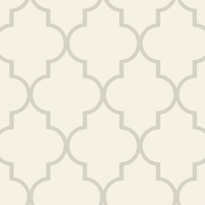 Trellis Wallpaper -Pearl Double Roll - Ballard Designs contemporary-wallpaper