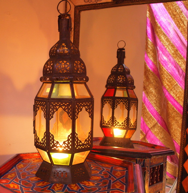 Filagree Moroccan Lamp Traditional Table Lamps Other