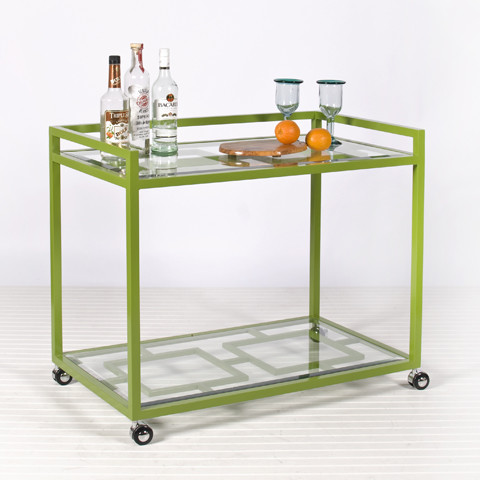 hton bar cart in green modern outdoor serving carts