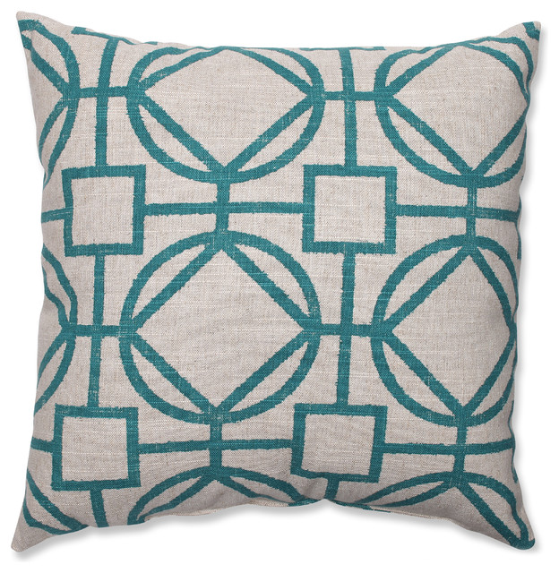 Modern Turquoise Pillows : Suri Turquoise Throw Pillow - Contemporary - Decorative Pillows - by Overstock.com